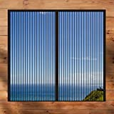 GAIJUAN Fliegennetz Vorhang 110x135cm(43x53inch) Magnetische Adsorption Magnet isolierter Türvorhang Auto Schließen Faltbar für Türen und Fenster, Schwarz A