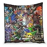 YshChemiy The Legend of Zelda Baumwolldecke, Sofaüberwurf, gemütlich, 230 x 260 cm, Weiß