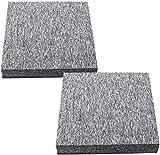 Teppichfliesen selbstklebend Teppichboden Bodenfliesen 50x50cm Strapazierfähig mit Klebepatch Größe:5 m2 (20 Stück- HellgrauTeppich)