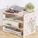 WBDZ Aktenregale aus Holz, Briefkasten Papierfach 4-stufiger Schreibtisch-Dateiorganisator und -Speicher, für Schüler Schulbürobedarf Aktenhalter für Desktop A4-Papierregal, Pink