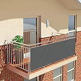 qmj Balkon Sichtschutz Wetterfeste Sonnenschutz-Schutzhülle Für Veranda Deck Outdoor Hinterhof Patio Balkon Zaun,Gray-70 X 600CM
