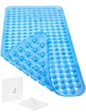 Homerella Badewannenmatte Hautsensitiv 88x39cm | BPA Frei INKL. AUFHÄNGUNG | Antirutschmatte Badewanne |Duschmatte rutschfest| Badematte rutschfest für Kinder & Baby (blau)