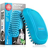 Bluepet® FellFein Gummistriegel für kurzhaar Hunde & große Katzen mit Massageeffekt | Entfernt Loses Deckhaar, Fell, Staub & Schmutz | Bürste mit speziellen Gumminoppen als Badebü