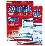 Somat Spezial-Salz, Spülmaschinensalz, für bessere Geschirrspülleistung 2er Pack (2 x 1,2kg)