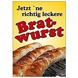net-xpress Bratwurst-Plakat für Bratwurst-Werbung A1, Werbeplakat Poster Wurst Imbiss