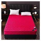 QIANGU Matratzenbezug Matratzenschoner Unterbett Schweißaufnahme Keine Stimulation Fade Resistant Atmungsaktive Schlafzimmer Hotels (Color : Rose red, Size : 120X200+25cm)