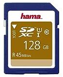 128 GB Class 10 UHS-1 SDHC-Karte – 45 MB/s, Rohling Media Flash-Speichertyp SDXC-Karte, Klasse 10, Speicherkapazität 128 GB, Speicherkartentyp SDXC, Blanko-Medien- und Flash-Speicherkarten