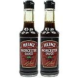 Heinz - 2er Pack Worcester Sauce in 150 ml Glasflasche (Würzsauce) - Worcestersauce zum Würzen und Verfeinern von Fleisch-, Fisch- und Gemüsegerichte