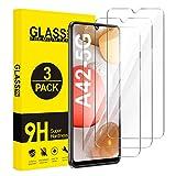 ivencase für Samsung Galaxy A42 5G Panzerglas [3 Stück], Hartglas Schutzfolie [9H Härte] [Anti-Öl] [Anti-Kratzen] Tempered Glas Displayschutzfolie für Samsung Galaxy A42 5G