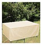 Abdeckung für Gartenmöbel Anti-UV Regenschutz und Staubfest wasserdichte, 210D Oxford Gewebe Abdeckung für Gartenmöbel Winterfest,123x61x72cm,Beige