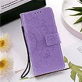 HHF Handy Zubehör Für Huawei p Smart 2021 P20 P30 P40 Lite, Ledertasche Brieftasche Flip Cover für Huawei p Smart 2020 P20 P30 P40 PRO (Farbe : Lavender, Material : for P20)