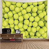 Daesar Wandteppiche Wandbehang, Wandbehang Wasserfest Tennis Tapisserie Psychedelic 300x260CM Wanddeko für Kinderzimmer Wohnzimmer Schlafzimmer