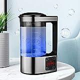 Kacsoo Wasserstoff-Wassergenerator 2L Wasserionengenerator mit großer Kapazität Wasserstoffreiche Wasserflasche Mit Thermostat Digital Touch Control LED-Anzeige Für Familien und Unternehmen