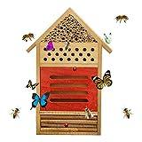 Eternitry Garten Bienenkasten Insektenhotel Insektenhaus Insektenhaus Insektennest Schmetterling Insektenhotel Nistkasten für Bienen Schmetterlinge B
