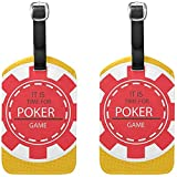 Poker Chip Gepäckanhänger Tasche Reiseetiketten für Gepäck Koffer 2PCS