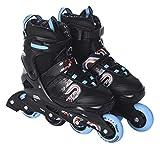 L.A. Sports Inliner Skate Soft Kinder Jugend Damen Größenverstellung 5 Größen verstellbar (29-33, Blau - Rot)