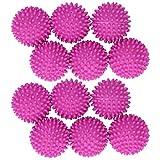 Wäsche-Reinigungskugeln, 12-teilige rosarote Waschkugel, Wäschetrockner-Ball Wiederverwendbare Wäsche-Reinigungskugeln Feste Struktur für die Reinigung von Wäschetrocknern