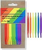 MYLACE - Schnürsenkel ohne binden - 14 Senkel für 1 Paar - nachhaltig verpackt - nie wieder Schuhe binden (Team Rainbow)