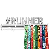 United Medals #Runner Medaille Kleiderbügel | Edelstahl Medaillenhalter | 43cm / 48 Medaillen