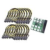 KU Syang Power Module Breakout Board für 1600W PSU Server Strom Umwandlung + 12 StüCk 20Cm 6Pin zu 8Pin Strom Kabel für BTC