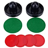 SOONHUA Air-Hockey-Tischschläger-Set aus leichtem Kunststoff mit Torwarten, Eishockey, Ersatzschieber, Pucks für Tischspiele