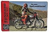ZÜNDAPP KS 50 Super Sport Moped, hochwertig geprägtes Retro Werbeschild, Blechschild, Türschild, Wandschild, 30 x 20 cm