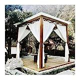 Sonnensegel Sichtschutznetz, Vorhänge im Freien Pavillon Gaze, Reißfestigkeit Stoff zum Pavillon Deck Balkon, Perfekt um die Kühle zu genießen, Kann angepasst Werden LJAINW