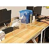 Dr.Sprayer Niesschutz Transparenter Baffelteiler, Esstisch-Tragetafel, Trennwand, Offce/Schul-Desk-Schutzdesktop Anti-Spray-Partition, 48x24x40cm (Size : 50x30x40cm)