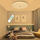 SHILOOK Deckenleuchte LED Dimmbar mit Fernbedienung, 24W Sternenhimmel Deckenlampe Rund für Schlafzimmer Kinderzimmer Wohnzimmer Küche, Rund Weiß, 38cm Ultra Dünn