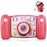 Victure Kinder Kamera Digital wiederaufladbare Selfie Action Kamera 1080P HD 12MP mit 2 Zoll LCD-Display und stoßfeste Griffe für Mädchen Jungen Spielzeug Geschenke