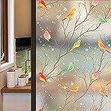 LMKJ Bird Privacy Milchglasfolie Farbige elektrostatische Fensteraufkleber für Badezimmer Badezimmer Glasfolie A27 50x100cm