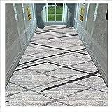 SJSF L Grau Streifen Läufer Teppich Flur Teppichläufer, 6mm Dick Eingang Matte, rutschfest Teppiche Zum Gang Eingang Halle Küche Passage,A,1.2 * 4