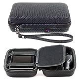 Schwarzes Hartschalentasche für Garmin Drive 52 50LM 51LMT-S 40LM DriveSmart DriveAssist 55 50LM 50LMT-D 51LMT-S DriveLuxe 50LMT-D 51LMT-S 5'' 5 Zoll GPS Navigationssystem Tragegurt und Zubehörfach