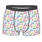 ZhangyJ Männerunterwäsche,Baby niedlichen Teddybär und Hasen-Druck, Boxershorts Atmungsaktive Komfortunterhose Größe XL
