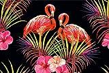 Muralo Vlies Fototapete 460x300 Jugend Flamingos Blumen 3D Moderne Tapete Kinderzimmer Schlafzimmer Wandbilder Wandtapete Wandtattoo XXL Br. 460 cm x Hö. 300
