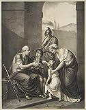 H. W. Fichter Kunsthandel: Rigal (vor 1871), n. F. REHBERG (1758), Der geblendete Belisar als Bettler, L