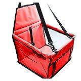 NERR YULUBAIHUO Reise Hund Auto Sitzbezug Komfortable Oxford Hund Reise Katzen Hunde Transport Matte Waschbare Falten Hängematte Pet Terransporter Tasche (Color : Red)