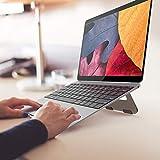 PGODYQ Faltbarer Laptop-Ständer, Aluminiumlegierung, Kühlkörper, Notebook-Ständer, rutschfest, großes Stück Silikonschutz, um den komfortablen Winkel einzustellen.
