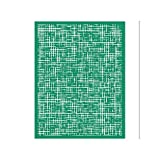DGAGA Selbstklebende Siebdruck-Schablone für verschiedene Buchstaben-Muster für Festivals, Malerei auf Holz, Heimdekoration, Tasche, T-Shirts (8,5 x 11, feines Raster)