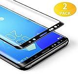 BANNIO 2 Stück für Panzerglas für Samsung Galaxy S8 Plus,3D Full Sreen Panzerglasfolie Schutzfolie für Samsung Galaxy S8 Plus,9H Härte,Leicht Anzubringen,Vollständige Abdeckung,Schwarz