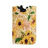 Sonnenblumen Wäschekorb Vintage Blumenbaum Faltbarer Wäschekorb mit Griffen Wasserdichte, strapazierfähige Kleidung Eimer Waschbehälter Schmutzige Körbe Spielzeug Aufbewahrung für Home College Wohnhei