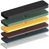 INNONEXXT® Premium Verglasungsklötze | 24 x 100 mm, 600 Stück | Made in Germany | Unterlegplatten, Abstandshalter, Distanzklötze aus Kunststoff, Abstandhalter | im Set: 1, 2, 3, 4, 5, 6 mm