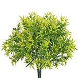 NAHUAA 4pcs Pflanzen Unecht Plastikpflanzen Deko Kunstpflanzen Künstliche für Frühling Zimmer Wohnzimmer Flur Balkon Garten Hochzeit Deko Grün Gelb