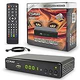 Comag HD45 Digitaler HD Sat Receiver (Full HD, HDTV, DVB-S2, HDMI, SCART, PVR-Ready, USB 2.0) inkl. HDMI Kabel, schwarz