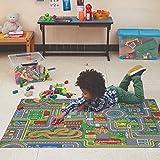 Carpet Studio Teppich Kinderzimmer 95x133cm, Spielteppich Straße Jungen & Mädchen für Schlafzimmer & Spielzimmer, Antirutsch, 30°C waschbar - Playcity