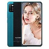 Hafury Günstig Smartphone ohne Vertrag Dual SIM, 4G-LTE Handy 5.5 Zoll Display mit 3100mAh Akku, 2GB + 16GB, 128GB erweitbar, Android 10, 3 Kameras, Face ID, Grün