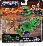 Meister des Universums Eternia Minis – Fahrzeug-Set + Figur mit Gelenken, 8 cm – He-Man & Ground Ripper