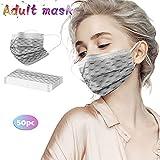 Zonary 50 Stück Mundschutz Erwachsene Einweg 3-lagig mit Gradient Motiv Mund und Nasenschutz Atmungsaktiv Gesichtsmaske Bandana Staubdicht Halstuch Schals für Männer Frauen
