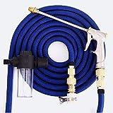 SFSGH Erweiterbares Gartenschlauchrohr - Flexibler Magic Expanding-Wasserschlauch Einfache Lagerung Leichtgewicht mit Wasserhahnadapter und Schaumwaschdüsen Spritzpistolen (Größe: 15M)