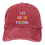 Jopath Say No to Racism Unisex Sport Denim Cap Fashion Baseball Hat Vintage Adjustable Hat Gr. One size, rot